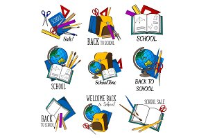 Back to School vector education icon