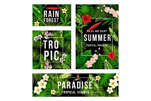 Summer tropical paradise poster