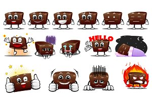 Chocolate Characters Sticker