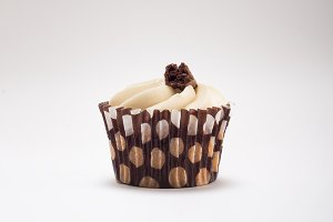 Chocolate Cupcake with candy