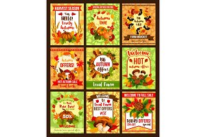 Autumn seasonal sale fall posters