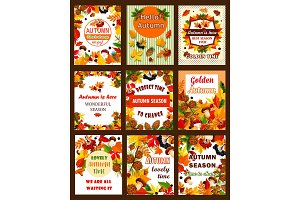 Autumn season nature posters