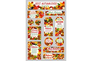 Autumn nature tag and label for sale