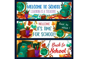Back to School lesson banners