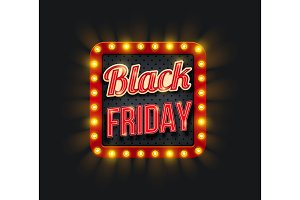 Black Friday sale with light frame