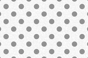 Textured gray and white polka dot
