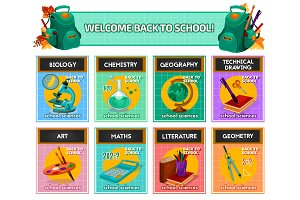 School subjects for back to school