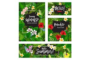 Summer tropical vacation card