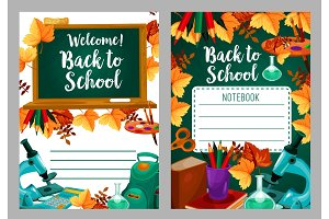 School stationery copybook cover