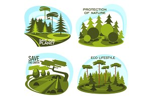 Ecology, environment protection icon