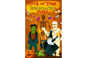 Halloween horror monster party