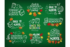 Back to school chalk badge