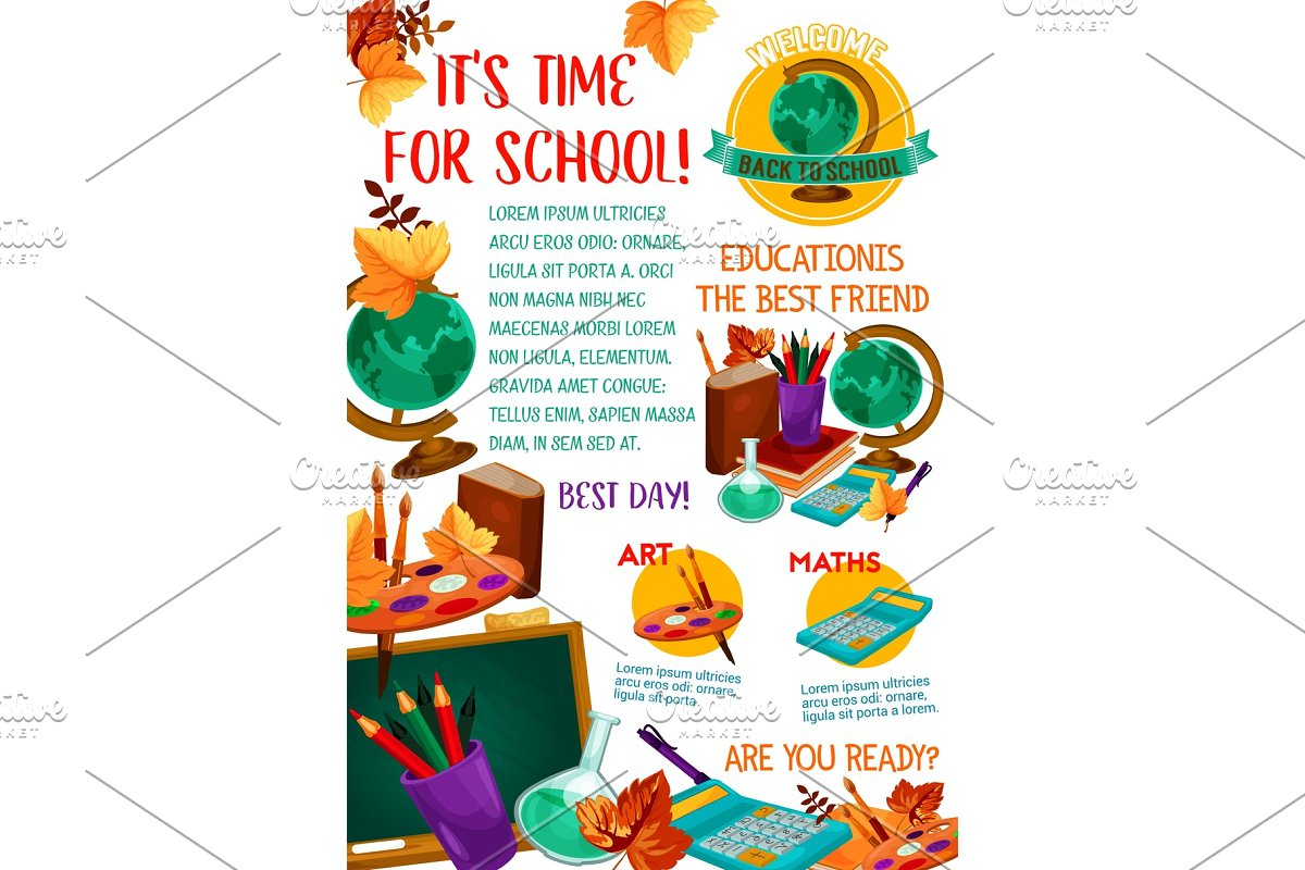 save back to school education poster
