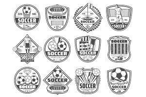 Football or soccer sport icons