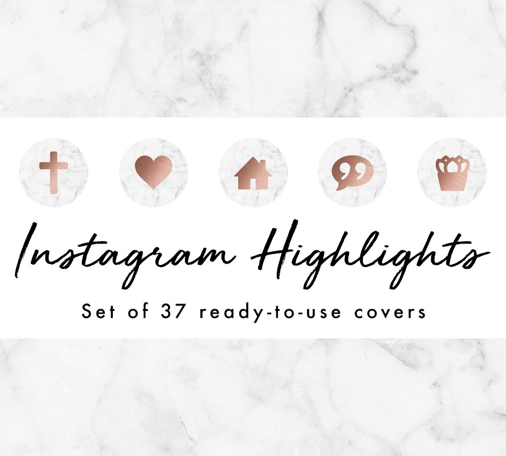 Instagram Highlight Covers Marble Nature