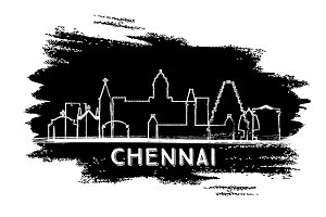 Chennai India City Skyline