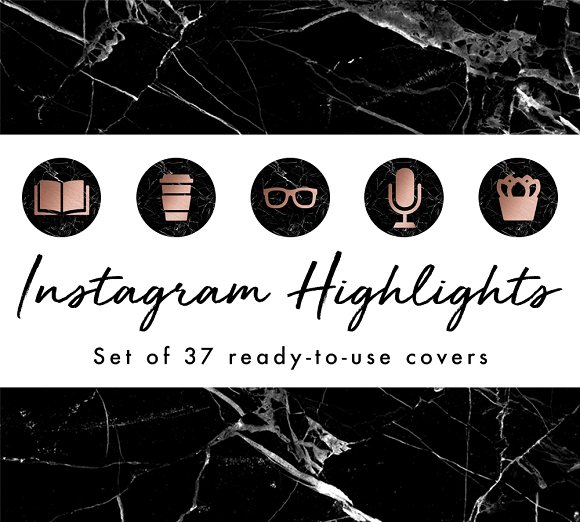 37 Instagram Story Highlight Covers in Instagram Templates