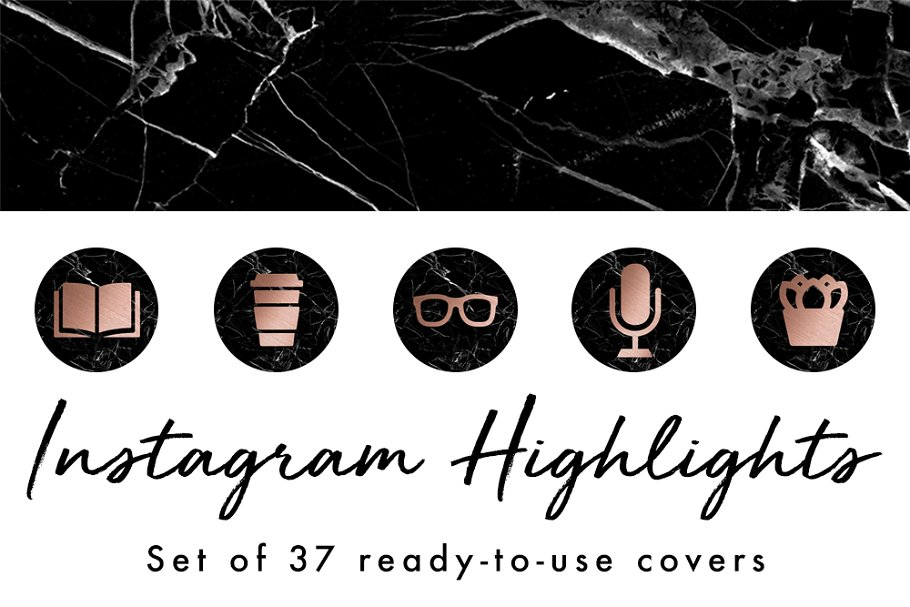 37 Instagram Story Highlight Covers in Instagram Templates - product preview 8