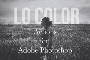 Lo Color Photoshop Matte Action Set