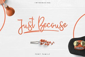 JustBecause font family -50%