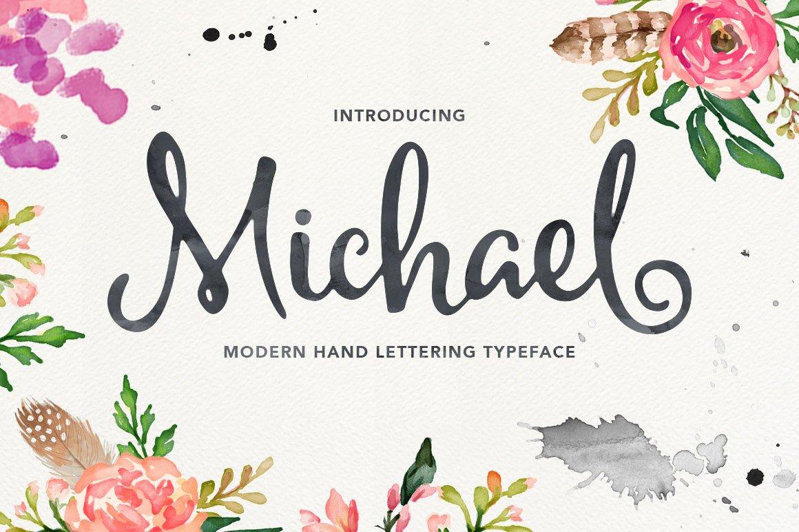 Michael Script Script Fonts Creative Market