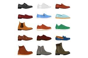 Man shoe vector fashion male boots