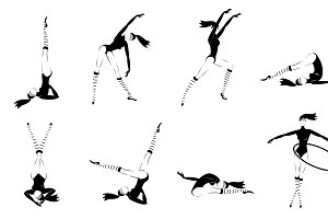 Monochrome Gymnastic Girls Set