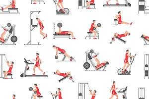 Men doing exercises
