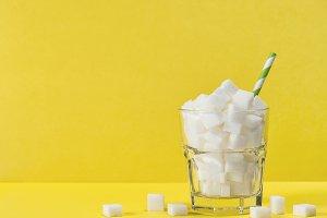 Glass sugar cubes Weight control
