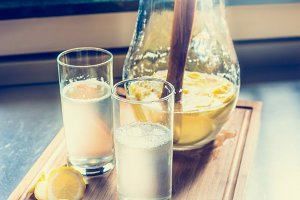 Fresh homemade lemonade
