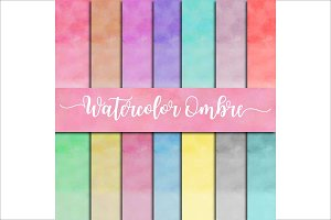 Watercolor Ombre Backgrounds