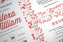 Floral Wedding Suite by  in Invitations