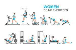 Women doing exercises