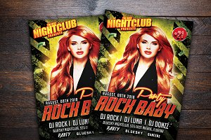 Rock Baby Party Flyer