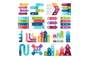 Colored arrows for design projects