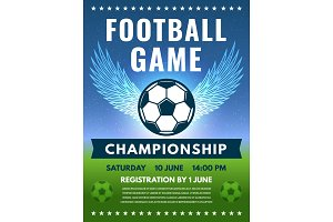 Design template of football poster
