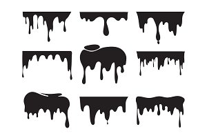 Illustrations of various dripping