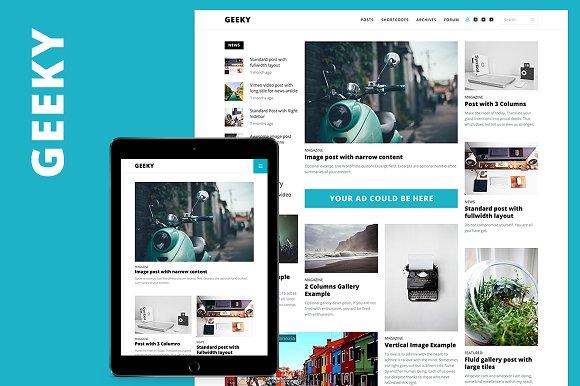 Geeky - Magazine / Blog / bbPress ~ WordPress Magazine Theme ...