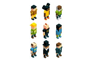 Avatars for 3D games. Isometric low