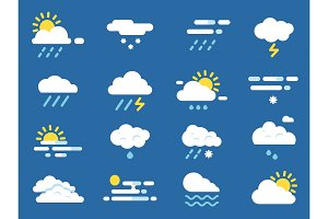 Weather icon set. Meteo symbols