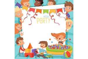 Design template of kids party