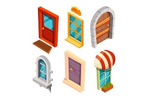 Isometric doors and windows