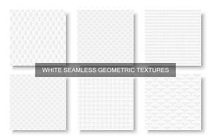 White geometric seamless textures