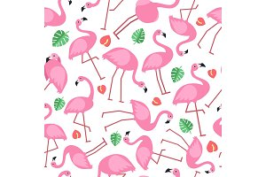 Seamless pattern with pictures of