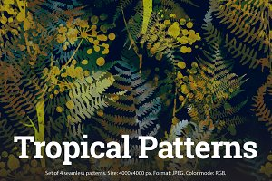 SALE! 4 Tropical Patterns | JPEG