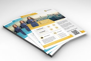 InDesign Business flyer-2 color-V70
