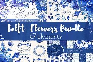 Delft Blue Flowers Bundle - 67