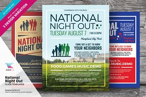 National Night Out Flyer Templates