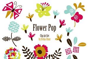 Flowers - Hand Drawn Vector Clip Art