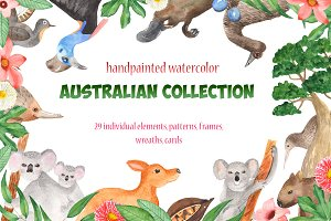 Australian Watercolor Collection.